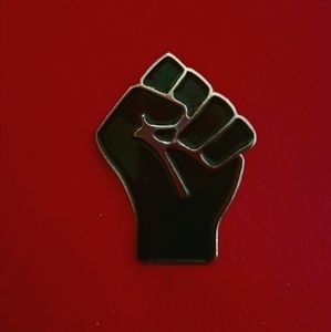 Black Lives Matter BLM Fist Enamel Pin